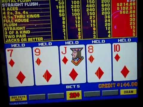 how to win video poker machines