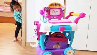 병원놀이는 너무 재밌어요!! 서은이의 맥스터핀스 케어 카트 의사 병원 주사 놀이 Mcstuffins Care Cart