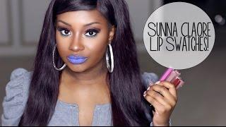 Lip Swatches | Sunna Claore Kissproof Matte Lipsticks!