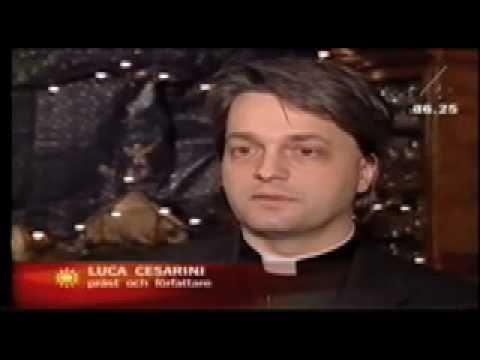 Luca Cesarini intervjuas av TV4 i samband med Birgittajubileét