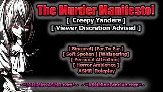Kitti Minx ASMR - The School Manifesto! ( CREEPY OBSESSED YANDERE ) [ Horror ] Roleplay