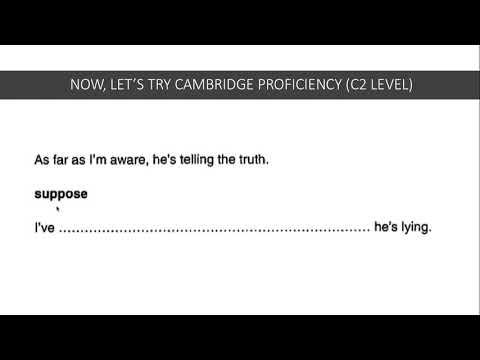 Mastering Cambridge Key Word Transformations