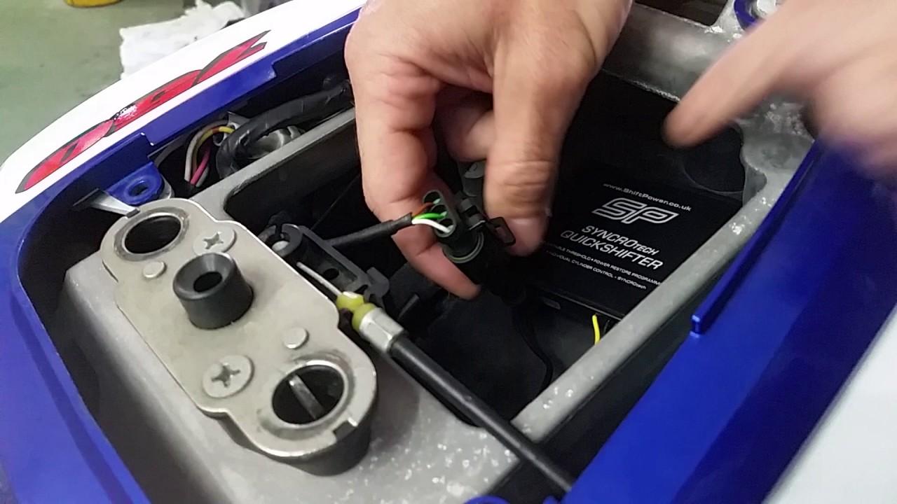 Suzuki gsxr 750 k7 sp quickshifter install (part 1)