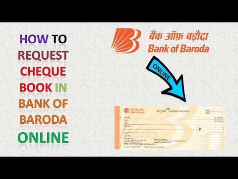 how to request cheque book in bank of baroda online youtube