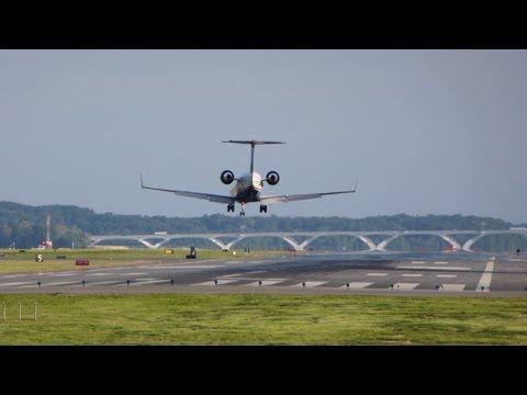 Washington National Airport Spotting ✈ River Visual Arrivals at Ronald Reagan DCA