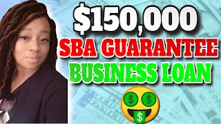 For existing businesses and startups, you can get up to $150K in SBA-guaranteed small business loan funding
