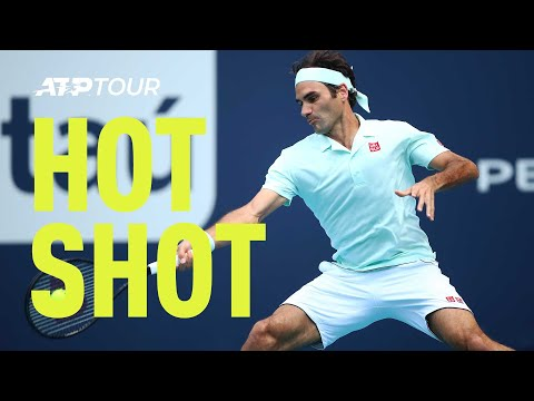 Hot Shot: Federer Breaks Isner With Flair In Miami 2019 Final