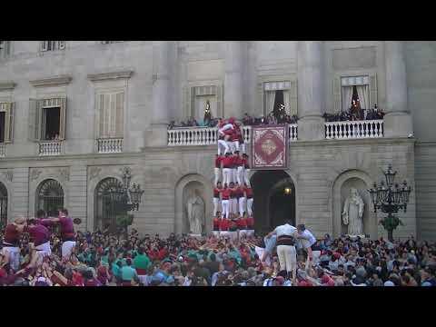 Castellers de Barcelona:7d7 descarregat Santa Eulàlia 2020