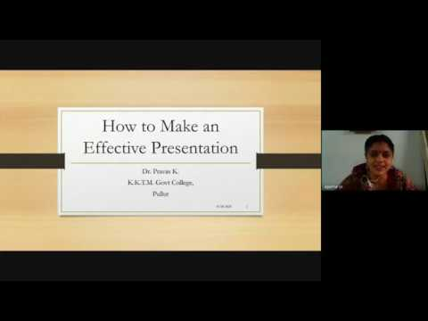 Making Effective Presentations - Webinar Series For VI Semester BSc Mathematics Students - Session V
