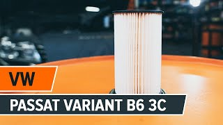 How to replace engine oil and oil filter VW PASSAT VARIANT B6 3C [TUTORIAL AUTODOC]