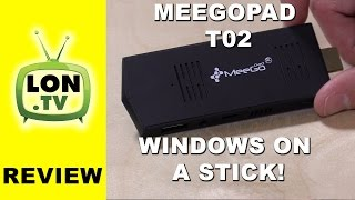 meegopad T02 Review - Windows PC on a HDMI Stick! Compared to the Intel Compute Stick and Original