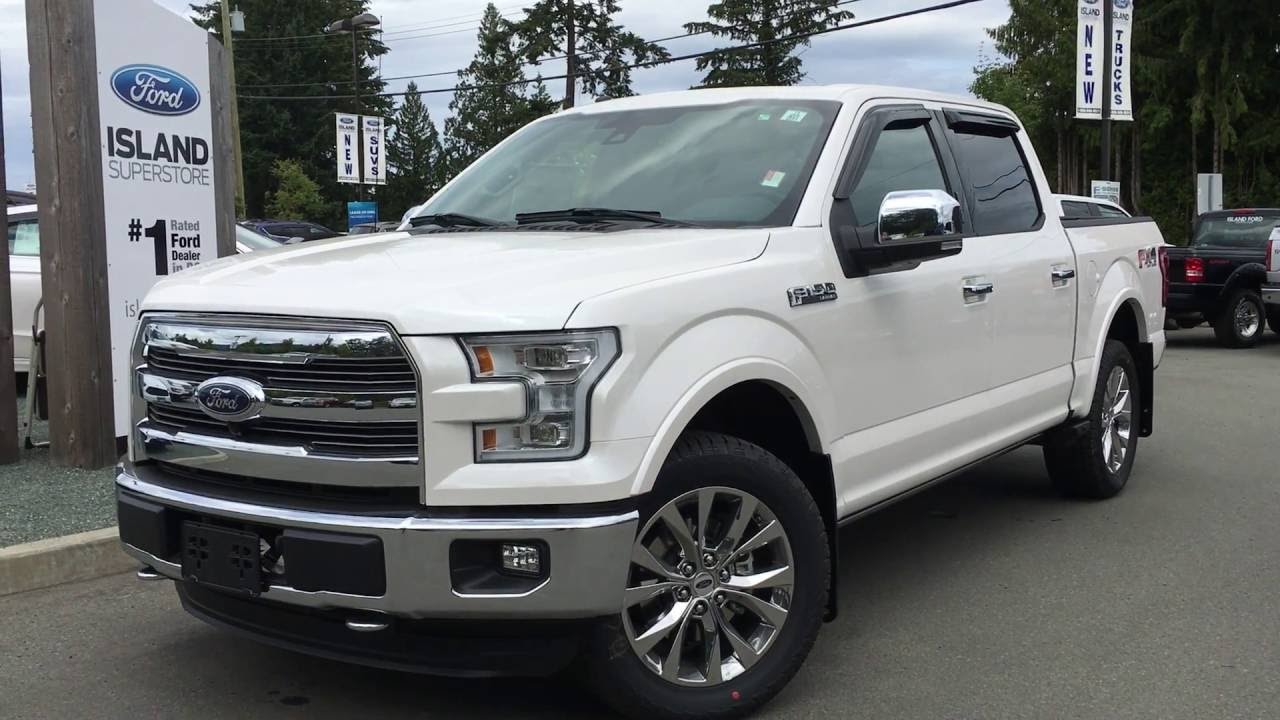 2016 ford f 150 lariat supercrew 4x4 nav dual moonroof review island ford youtube. Black Bedroom Furniture Sets. Home Design Ideas