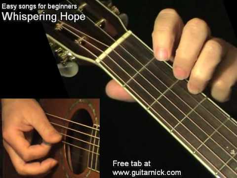 WHISPERING HOPE: Easy Guitar Lesson + TAB by GuitarNick - YouTube