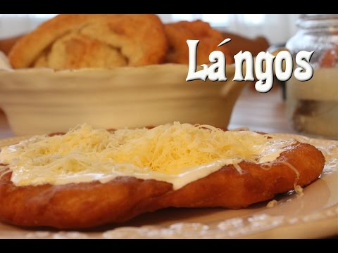 Lángos (Fried Dough /Hungarian Street Food)