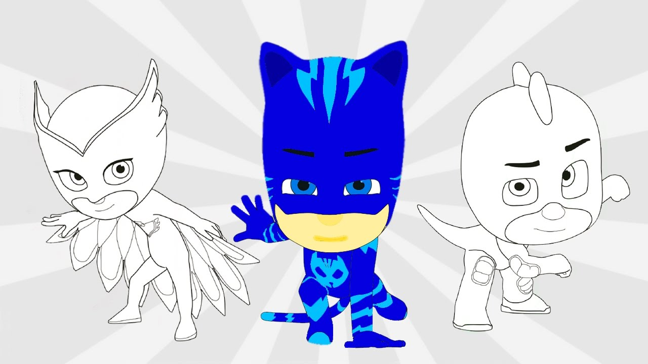 pj masks coloring pages youtube