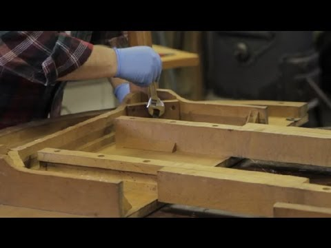 How To Attach Furniture Legs With Screws U0026 Washers : Furniture Repair U0026  Refinishing