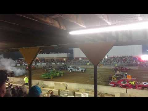 Demolition Derby at The 2017 Highland County Fair