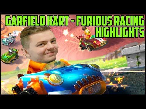 Elajjaz New Favorite Game | Garfield Kart Furious Racing Highlights