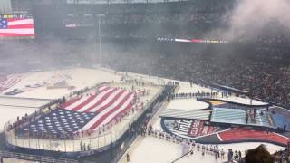 National Anthem / 2017 NHL Winter Classic / Spencer Ludwig on the trumpet / Let