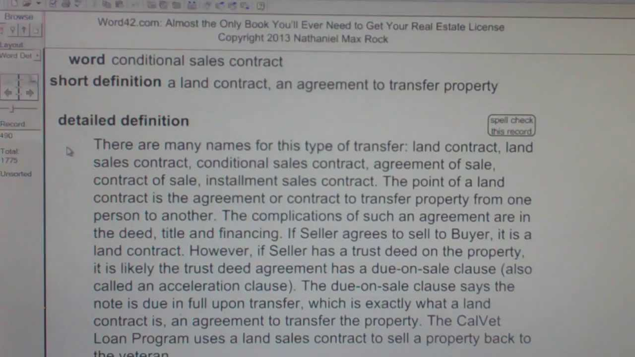 Conditional Sales Contract Ca Real Estate License Exam Top Pass