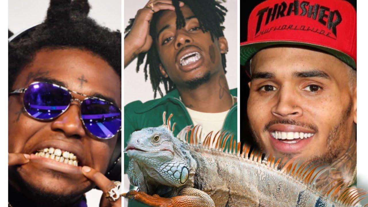 Catching iguanas in the Hood with Chris Brown Kodak Black and Playboi Carti!