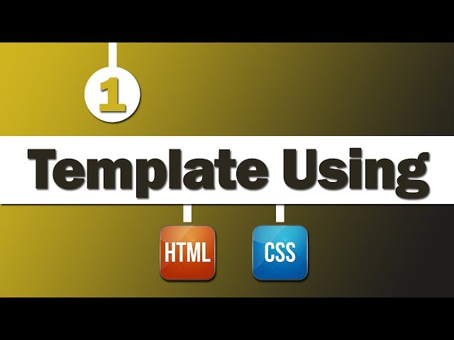 Design Template Multiple Pages Using ( HTML & CSS )
