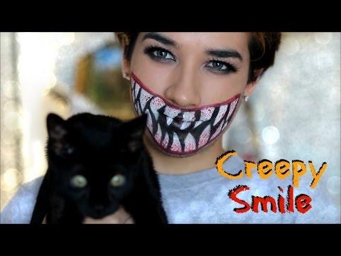 Halloween: Creepy Smile Makeup Tutorial - YouTube