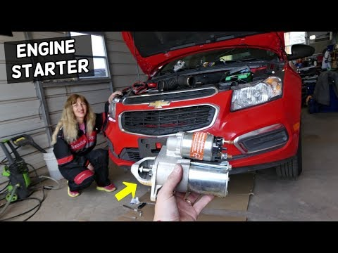CHEVROLET CRUZE ENGINE STARTER REPLACEMENT. CHEVY SONIC STARTER