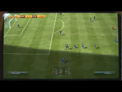 Fifa Football on Playstation Vita - Chelsea vs Barcelona and more (1080p camera)
