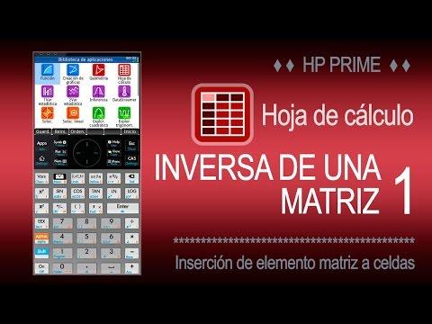 HP Prime - App Hoja de cáculo | Matriz inversa I