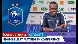 La conférence de presse de Ndombélé et Matuidi en replay, Équipe de France I FFF 2018