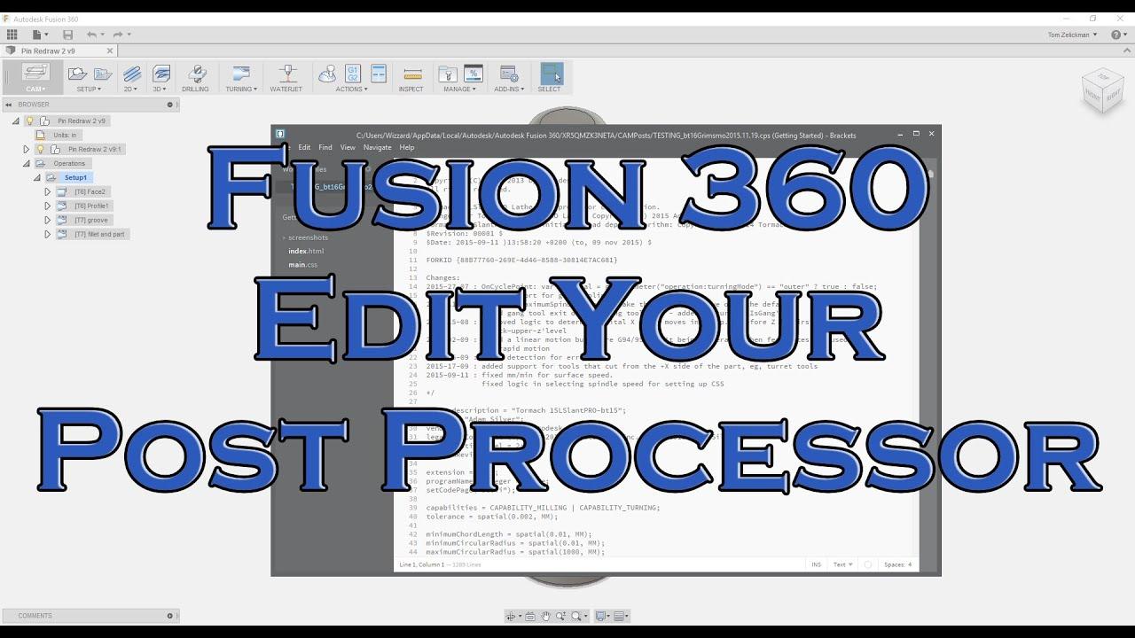 Fusion 360 Post Processing