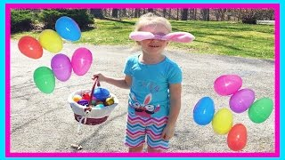 30 SURPRISE EGGS! Easter Egg Hunt in the Pirate Ship Playground Park for Kids W/ Fun Factory