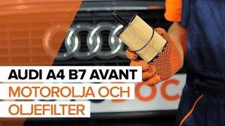 Reparation AUDI A4 själv - videoinstruktioner online