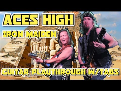 'Aces High' By Iron Maiden - Guitar Playthrough W/tabs (Chris Zoupa)