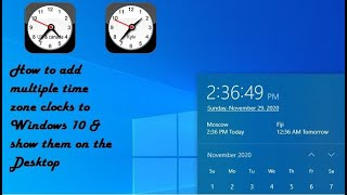 How to add multiple time zone clocks to Windows 10 & show them on the Desktop screenshot 5