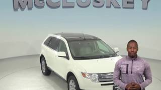A98472ET Used 2009 Ford Edge Limited FWD 4D Sport Utility White Test Drive, Review, For Sale -