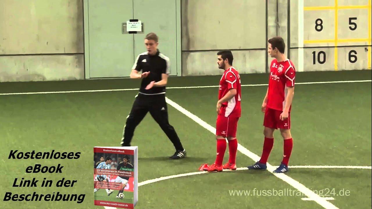 Detailcoaching Im Fussball 23 Variationen Im Passdreieck Mit Steven Turek