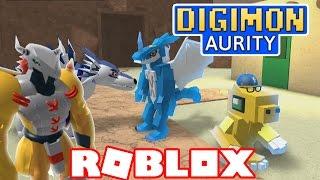 "Digimon Aurity - Veemon Digivolve to Ex-Veemon!!! ""Digimon in Roblox!'' (Roblox Gameplay)"