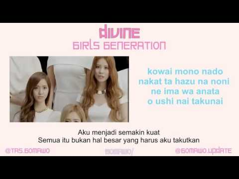 GIRLS GENERATION / SNSD - DIVINE [MV, EASY LYRIC, LIRIK INDONESIA]