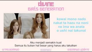 GIRLS GENERATION / SNSD - DIVINE [MV, EASY LYRIC, LIRIK INDONESIA]