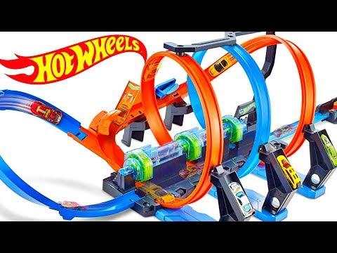 Hot Wheels CorkScrew Crash Slow Motion Epic Loops Racing Car Crashes 360 Loop Trackset