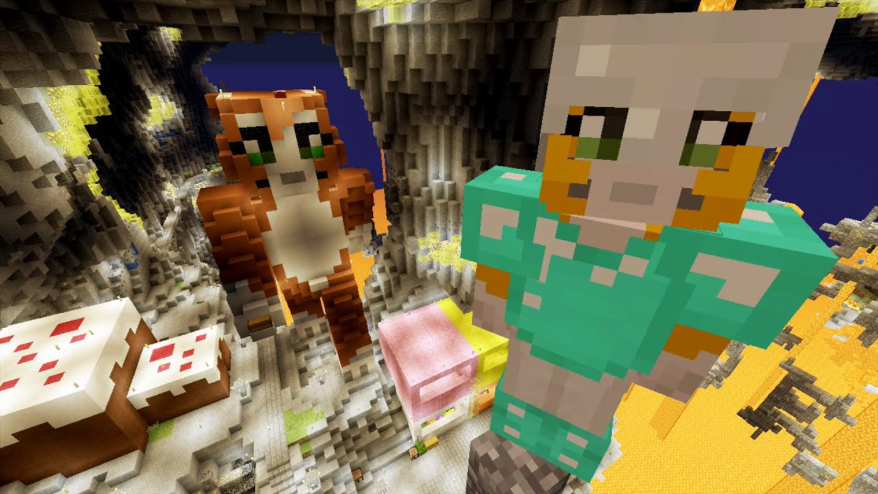 Stampy And Squishy : Minecraft Xbox - Cave Den - Great Heights (12) Doovi