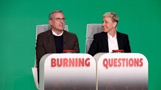 Steve Carell Answers Ellen's 'Burning Questions'