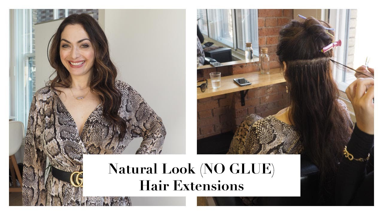 Natural Look No Glue Hair Extensions Tonia Buxton Youtube