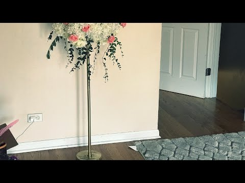 DIY - Home Depot tall centerpiece stand |DIY- Tall stand less than $3| DIY cement & PVC pipe part 1