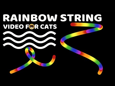 CAT GAMES - Rainbow String. Videos For Cats To Watch.