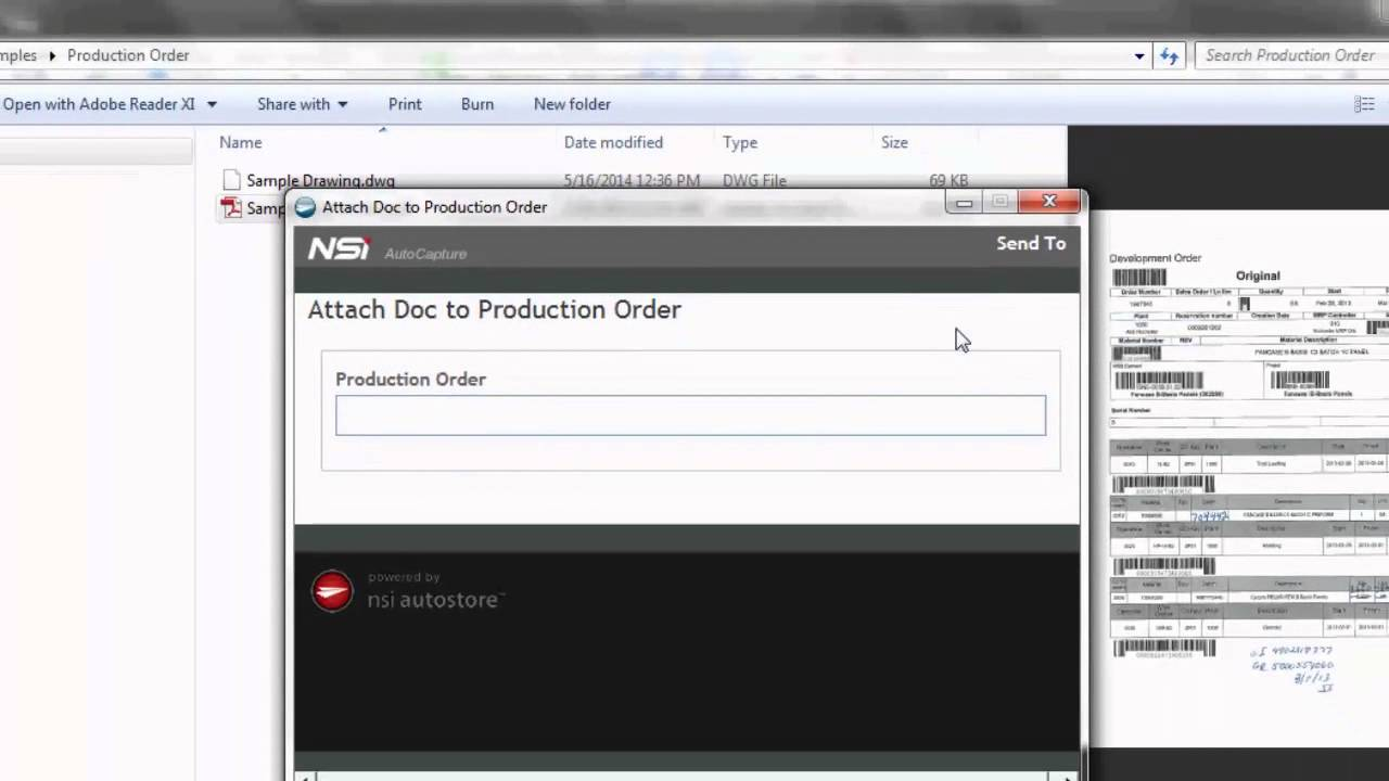 Attach Content to SAP Production Orders