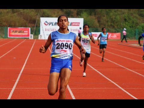Jisna Mathew Won Senior Girls 100 Meter Kerala School Athletic Meet 2015