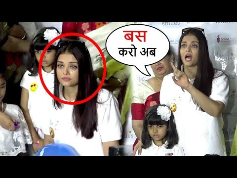 Thumbnail: Aishwarya Rai CRIES & Lashes Out As Paparazzi Harass Daughter Aradhya Bachchan Full Video